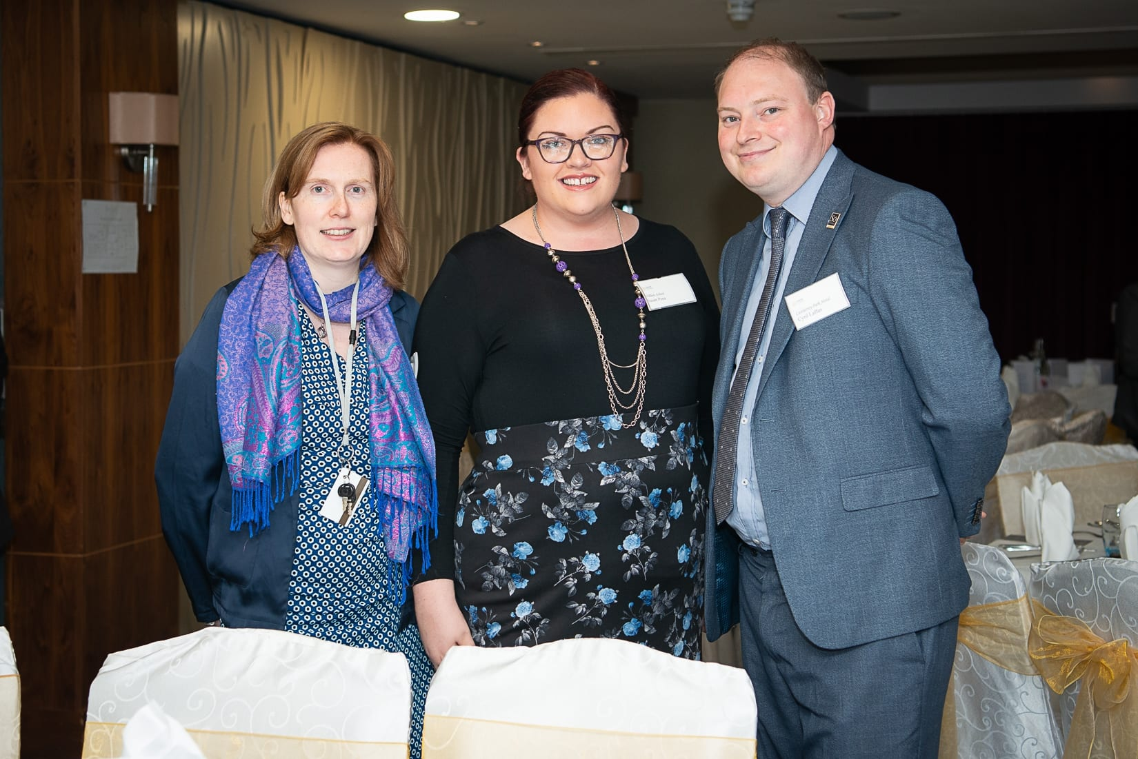 No repro fee-Limerick Chamber Autumn Luncheon which was held in The Savoy Hotel on Monday 23rd September - From Left to Right: Anne Marie Nash - The Strand Hotel, Susan Pera - Villers School, Cyril Laffan - Castletroy Park Hotel,  Photo credit Shauna Kennedy