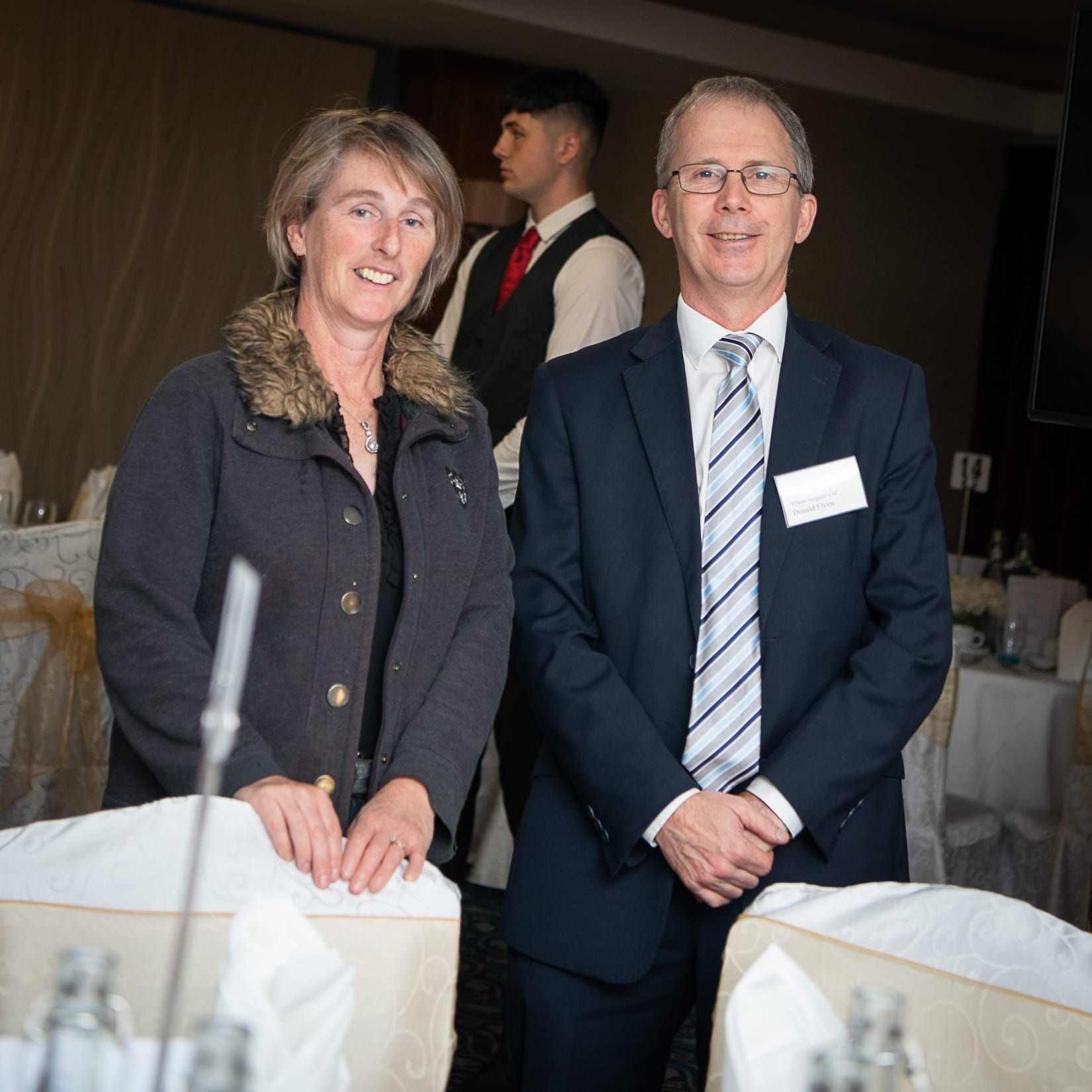 No repro fee-Limerick Chamber Autumn Luncheon which was held in The Savoy Hotel on Monday 23rd September - From Left to Right: Rosemary Larkin - New Vistas Healthcare, Don Fylnn - Flynn Surgical Photo credit Shauna Kennedy