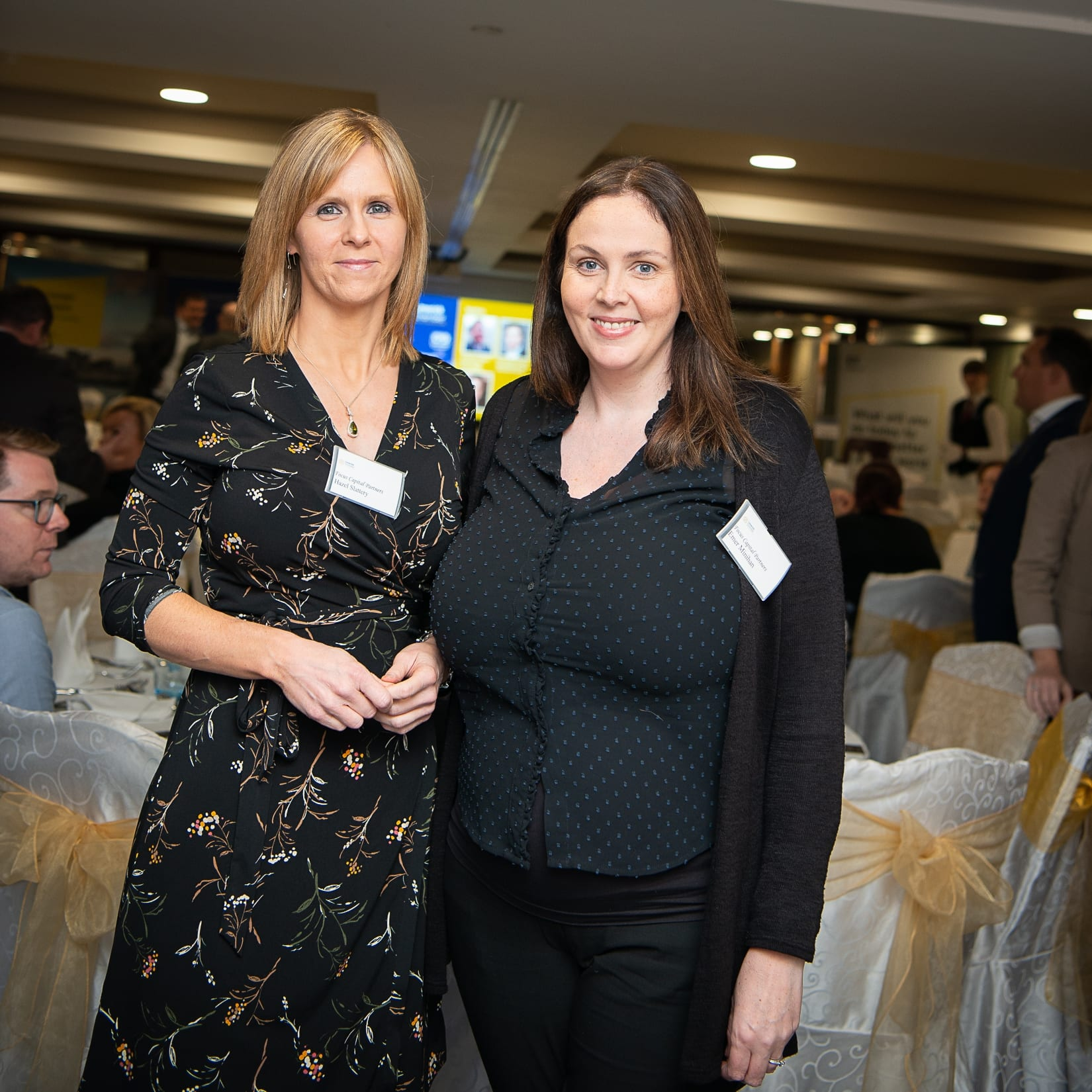 No repro fee-Limerick Chamber Autumn Luncheon which was held in The Savoy Hotel on Monday 23rd September - From Left to Right: Hazel Slattery and Emer Minihan other Focus Capital Partners.  Photo credit Shauna Kennedy