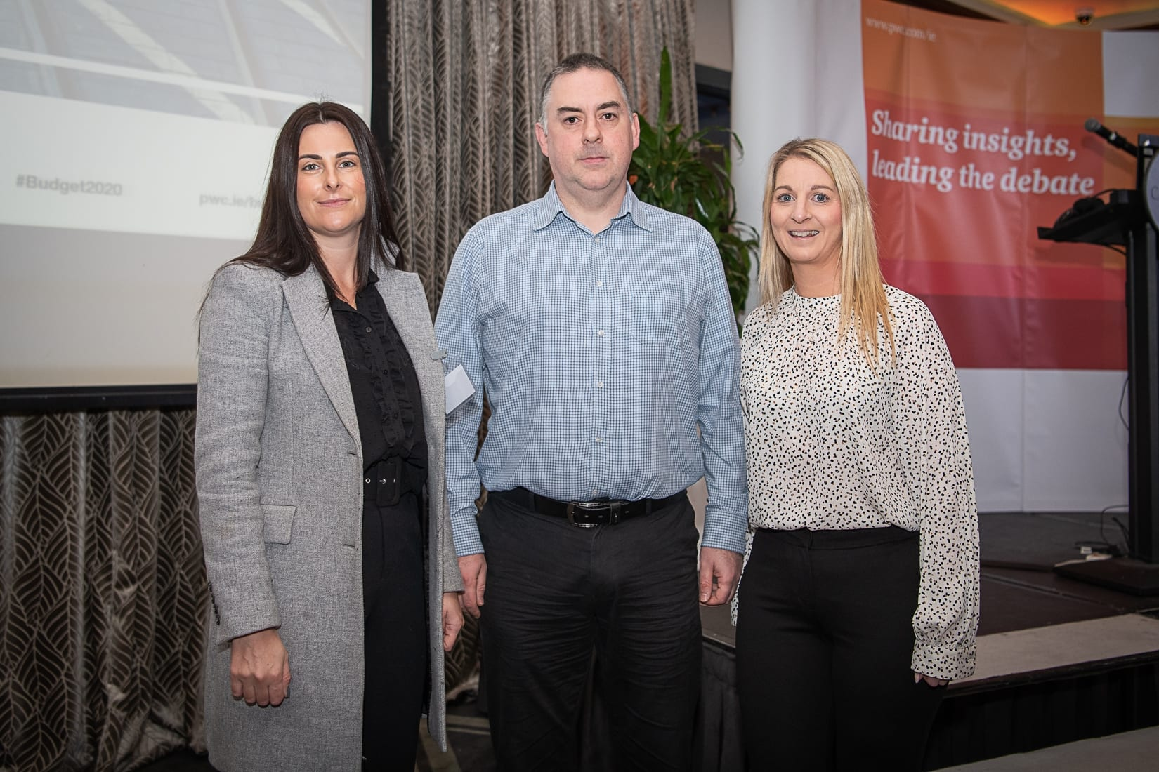 PWC Budget Breakfast in association with the Limerick Chamber which took place in the Castletroy Park Hotel on 9th October 2019, from left to right: Laura Pond- Permanent TSB, Rory Kirwan - Jaguar Land Rover, Noelle O'Shea - Permanent TSB. Photo by Morning Star Photography