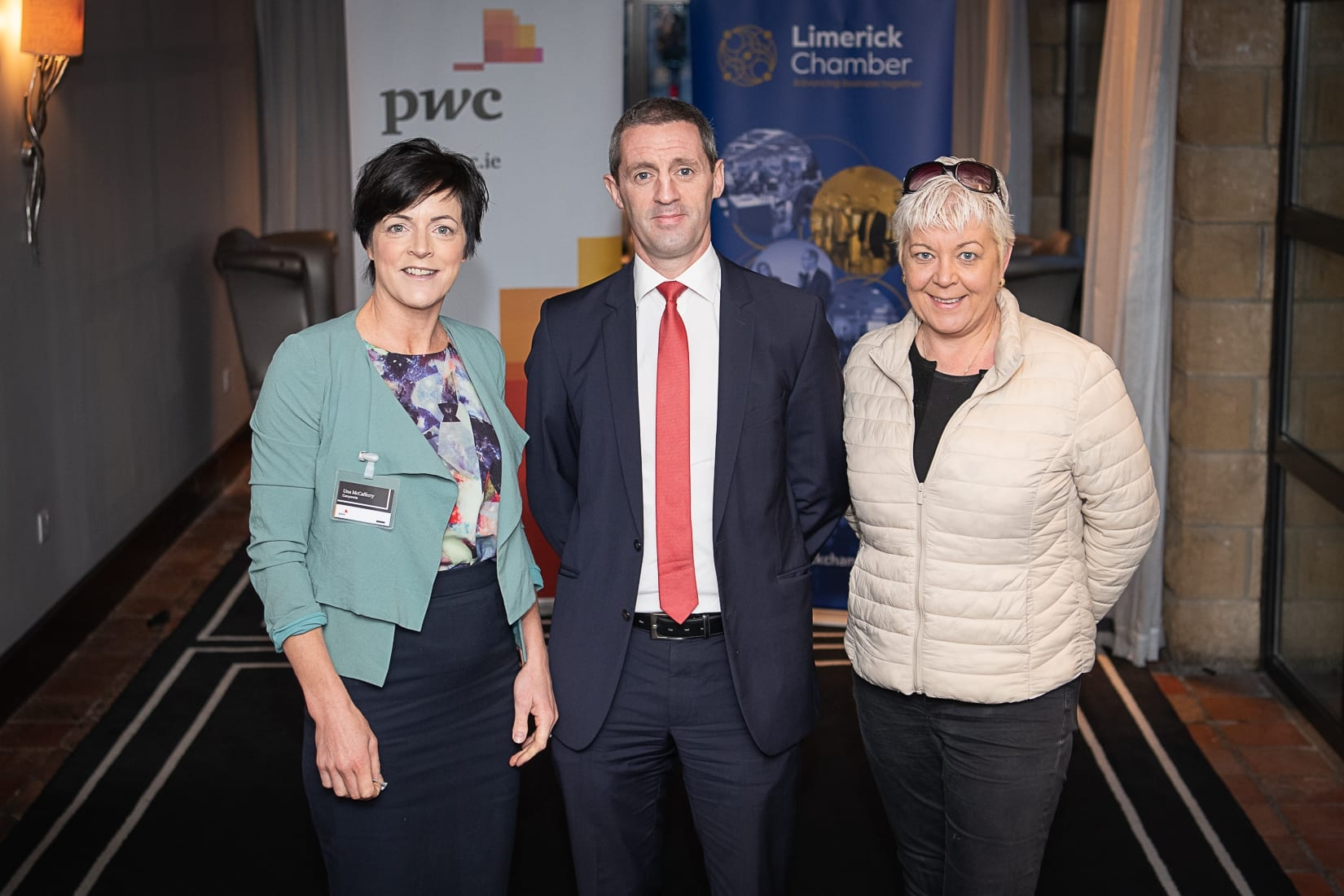 PWC Budget Breakfast in association with the Limerick Chamber which took place in the Castletroy Park Hotel on 9th October 2019, from left to right: Úna McCafferty- Canyon CTS, Kieran Considine - AIB, Mavourneen Kilkenny- Novostrat  Photo by Morning Star Photography