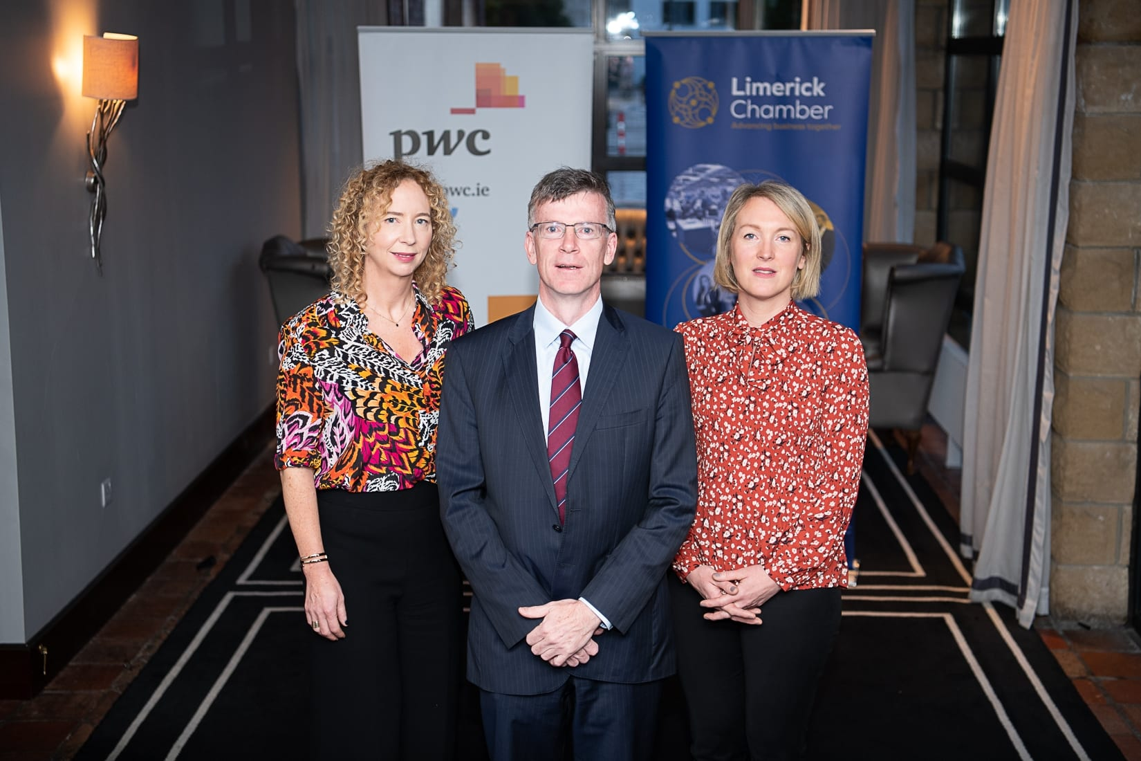 PWC Budget Breakfast in association with the Limerick Chamber which took place in the Castletroy Park Hotel on 9th October 2019, from left to right: Mairead Connolly - PWC / Speaker, Professor Alan Ahearne - Speaker, Emer Hodges - PWC / SPEAKER,  Photo by Morning Star Photography